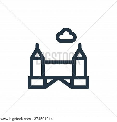 Tower bridge icon isolated on white background from europe collection. Tower bridge icon trendy and