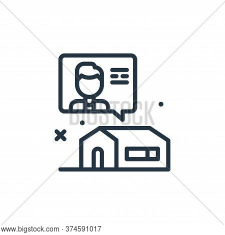 chat icon isolated on white background from work from home collection. chat icon trendy and modern c