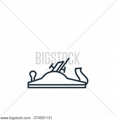 wood plane icon isolated on white background from carpentry collection. wood plane icon trendy and m