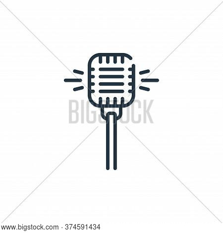 microphone icon isolated on white background from fame collection. microphone icon trendy and modern