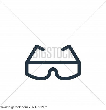safety glasses icon isolated on white background from labour day collection. safety glasses icon tre