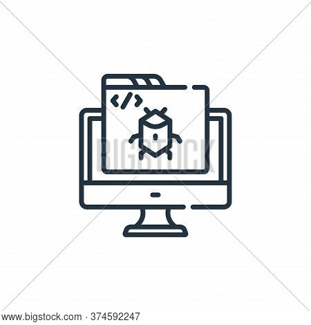 bug icon isolated on white background from web development collection. bug icon trendy and modern bu