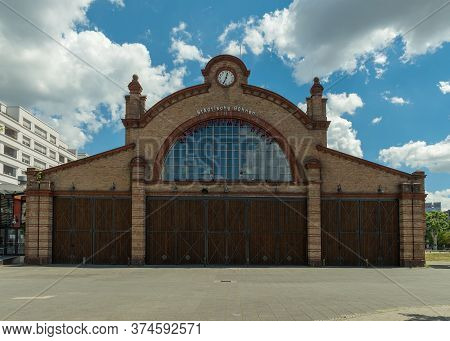 Frankfurt Am Main, Germany-july 02, 2020: Bockenheimer Depot Theater, Former Tram Workshop, Frankfur
