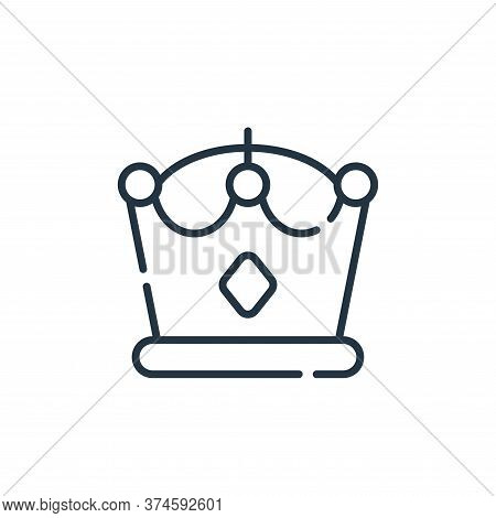 crown icon isolated on white background from videogame collection. crown icon trendy and modern crow