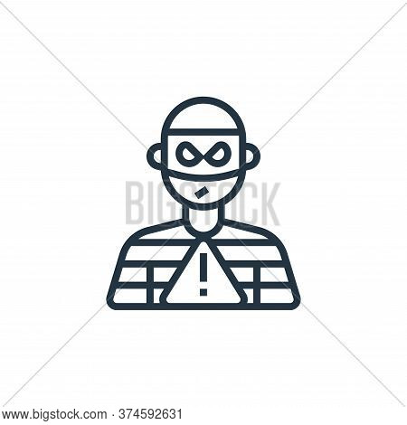 theft icon isolated on white background from business risks collection. theft icon trendy and modern