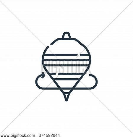 spinning top icon isolated on white background from mexico collection. spinning top icon trendy and