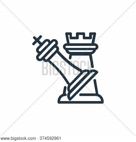 attack icon isolated on white background from chess game collection. attack icon trendy and modern a