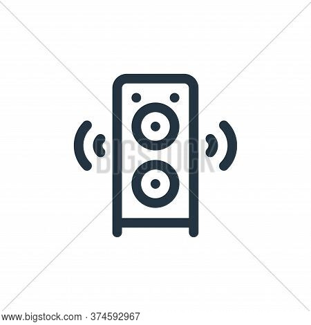 speaker icon isolated on white background from communication and media collection. speaker icon tren