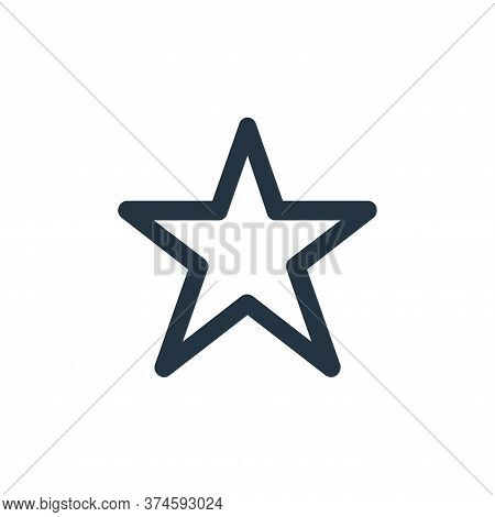 star icon isolated on white background from user interface collection. star icon trendy and modern s