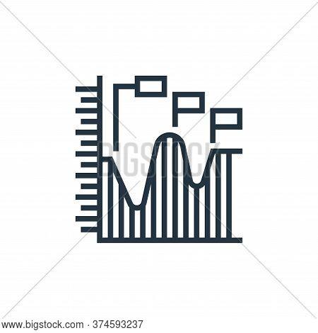 progress chart icon isolated on white background from data analytics collection. progress chart icon