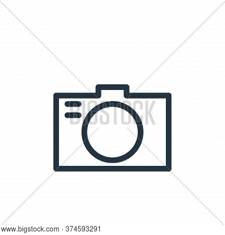 camera icon isolated on white background from holiday collection. camera icon trendy and modern came