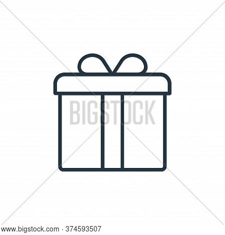 gift icon isolated on white background from shopping line icons collection. gift icon trendy and mod