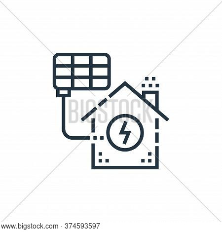 solar cell icon isolated on white background from smarthome collection. solar cell icon trendy and m