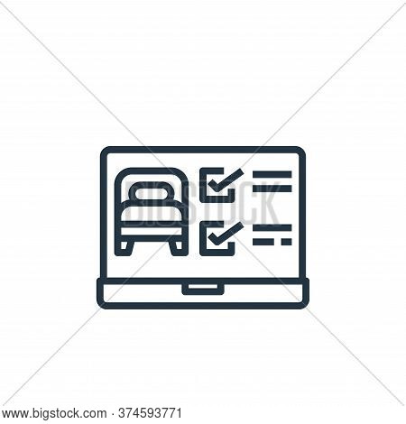 laptop icon isolated on white background from hotel collection. laptop icon trendy and modern laptop