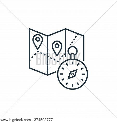 navigation icon isolated on white background from tourism collection. navigation icon trendy and mod