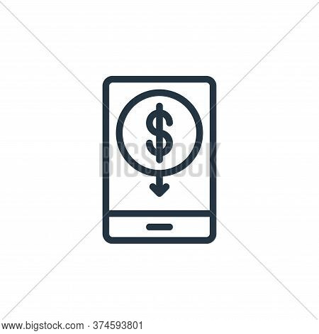 mobile banking icon isolated on white background from business collection. mobile banking icon trend