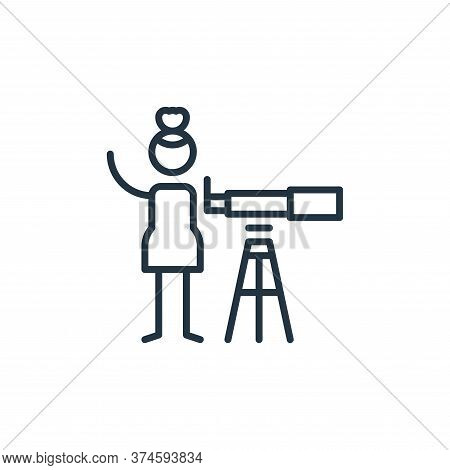 astronomy icon isolated on white background from general arts collection. astronomy icon trendy and