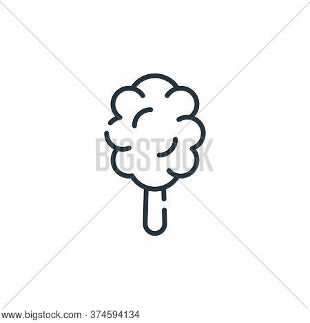 cotton candy icon isolated on white background from circus collection. cotton candy icon trendy and