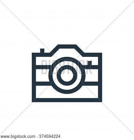 photo camera icon isolated on white background from electronics collection. photo camera icon trendy