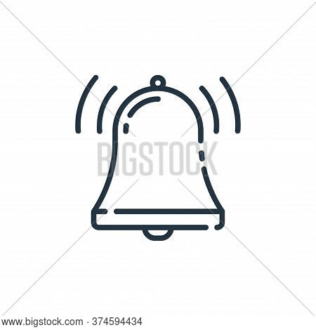 bell icon isolated on white background from user interface collection. bell icon trendy and modern b