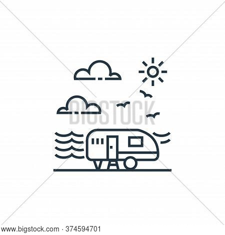 camper van icon isolated on white background from tourism collection. camper van icon trendy and mod