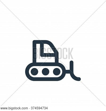 bulldozer icon isolated on white background from labour day collection. bulldozer icon trendy and mo