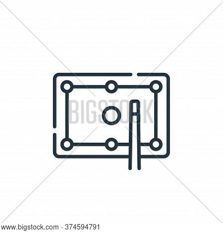 billiard icon isolated on white background from free time collection. billiard icon trendy and moder