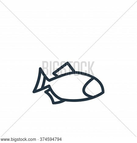 fish icon isolated on white background from food collection. fish icon trendy and modern fish symbol