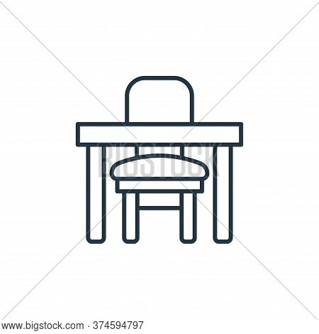 table icon isolated on white background from interiors collection. table icon trendy and modern tabl