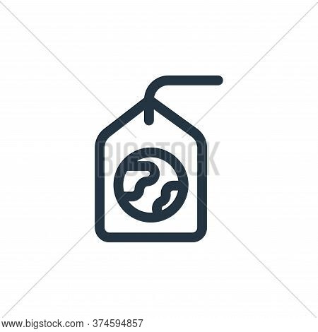 tag icon isolated on white background from mother earth day collection. tag icon trendy and modern t