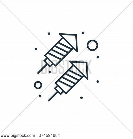 rocket icon isolated on white background from brazilian carnival collection. rocket icon trendy and