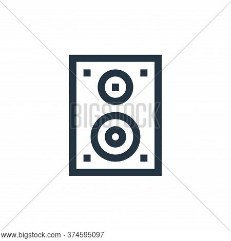 speaker icon isolated on white background from electronics collection. speaker icon trendy and moder