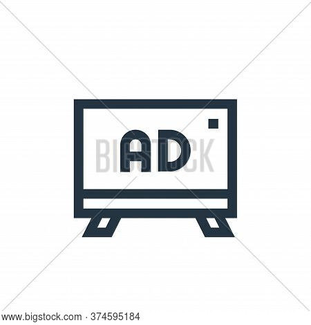 advertising icon isolated on white background from advertisement collection. advertising icon trendy