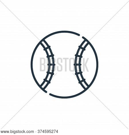 baseball ball icon isolated on white background from baseball collection. baseball ball icon trendy