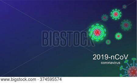 Coronavirus Covid-19 Outbreak And Coronaviruses Influenza Background. Coronavirus 2019-ncov. Pandemi