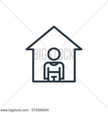 stay at home icon isolated on white background from pandemic collection. stay at home icon trendy an
