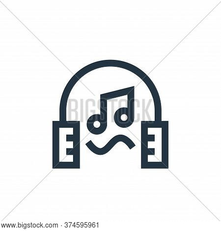 music therapy icon isolated on white background from alternative medicine collection. music therapy