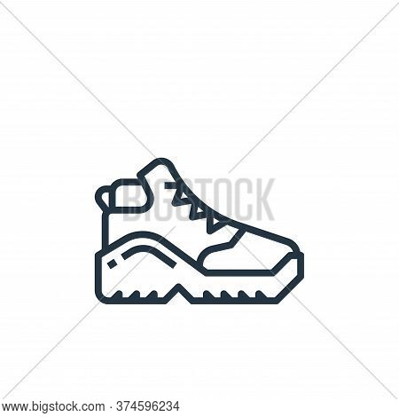shoe icon isolated on white background from camping collection. shoe icon trendy and modern shoe sym
