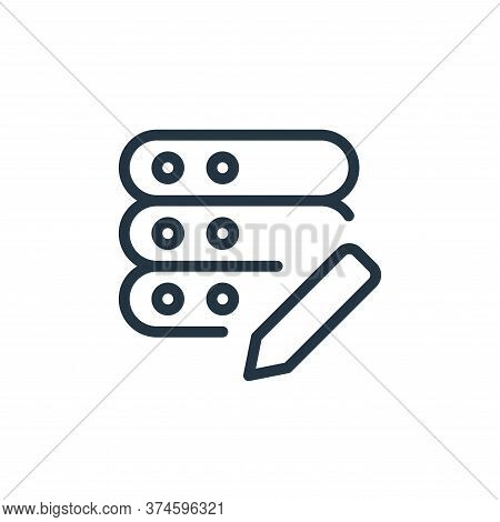 edit icon isolated on white background from work office server collection. edit icon trendy and mode