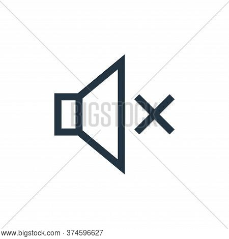 mute icon isolated on white background from web essentials collection. mute icon trendy and modern m
