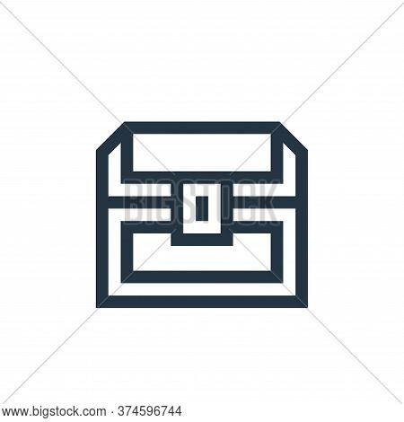 treasure chest icon isolated on white background from history collection. treasure chest icon trendy