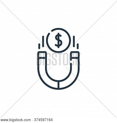 magnet icon isolated on white background from life skills collection. magnet icon trendy and modern