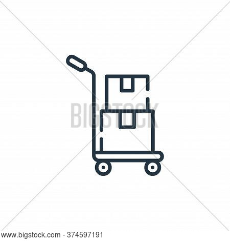 cart icon isolated on white background from delivery collection. cart icon trendy and modern cart sy