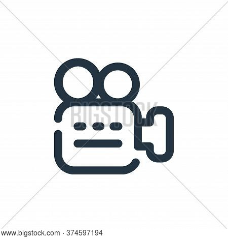 video camera icon isolated on white background from video collection. video camera icon trendy and m
