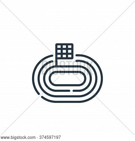 race track icon isolated on white background from auto racing collection. race track icon trendy and