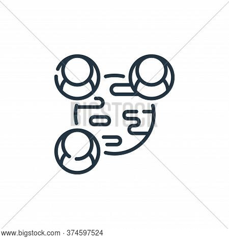 network icon isolated on white background from social media collection. network icon trendy and mode