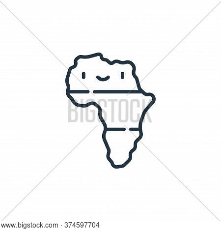 africa icon isolated on white background from reggae collection. africa icon trendy and modern afric
