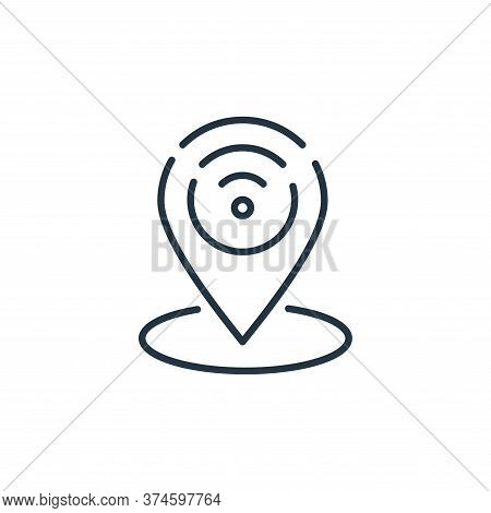 gps icon isolated on white background from internet of things collection. gps icon trendy and modern
