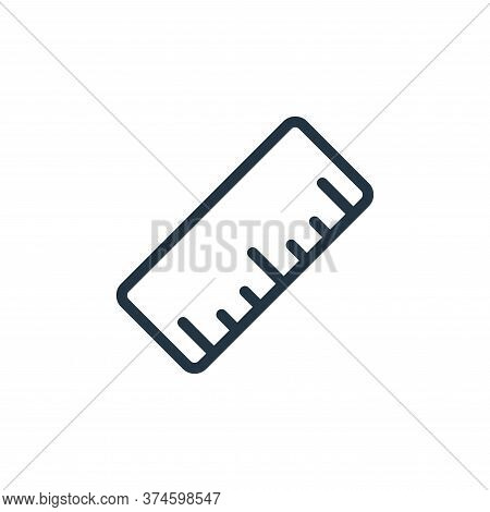 ruler icon isolated on white background from work office supply collection. ruler icon trendy and mo