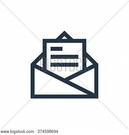 email icon isolated on white background from job resume collection. email icon trendy and modern ema